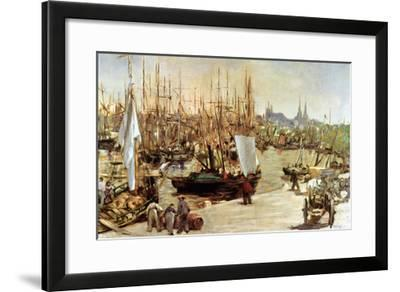 The Port of Bordeaux, 1871-Edouard Manet-Framed Giclee Print