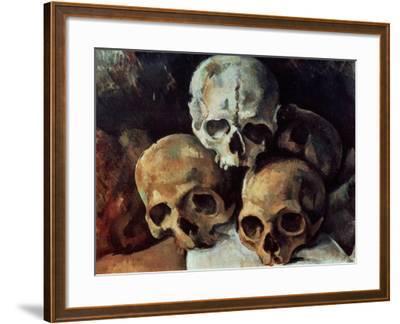 Pyramid of Skulls, 1898-1900-Paul C?zanne-Framed Giclee Print