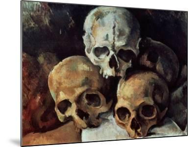 Pyramid of Skulls, 1898-1900-Paul C?zanne-Mounted Giclee Print