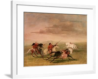 Red Indian Horsemanship-George Catlin-Framed Giclee Print