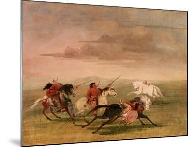 Red Indian Horsemanship-George Catlin-Mounted Giclee Print