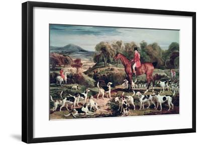 Ralph Lambton and His Hounds-James Ward-Framed Giclee Print