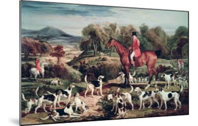 Ralph Lambton and His Hounds-James Ward-Mounted Giclee Print