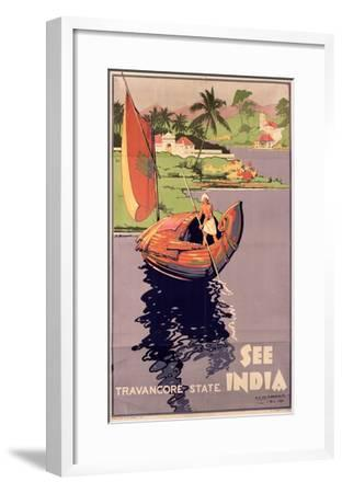 see India', 1938 (Colour Litho)-English-Framed Giclee Print