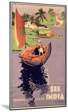 see India', 1938 (Colour Litho)-English-Mounted Giclee Print