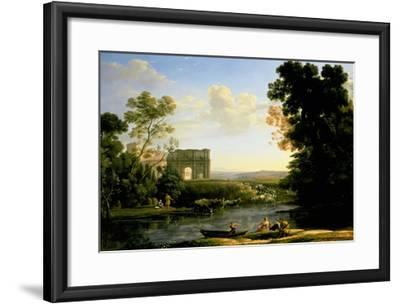 Pastoral Capriccio with the Arch of Constantinople-Claude Lorraine-Framed Giclee Print