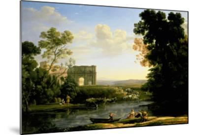 Pastoral Capriccio with the Arch of Constantinople-Claude Lorraine-Mounted Giclee Print
