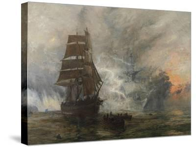 The Phantom Ship-William Lionel Wyllie-Stretched Canvas Print
