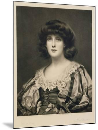 Lorna Doone, Engraved by Fred Miller (Fl.1886-1915) Pub. by Robert Dunthorne, 1892 (Mezzotint)-William Clarke Wontner-Mounted Giclee Print