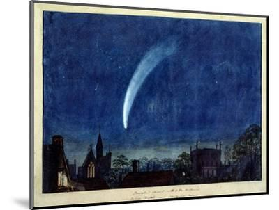 Donati's Comet, 1858 (W/C on Paper)-J^ M^ W^ Turner-Mounted Premium Giclee Print