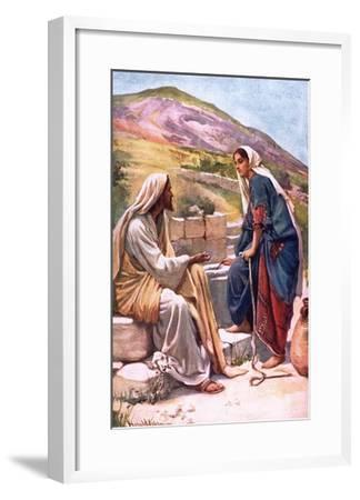The Well of Sychar-Harold Copping-Framed Giclee Print