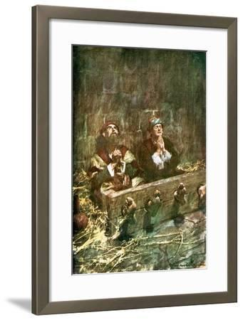 Paul and Silas in Prison-William Hatherell-Framed Giclee Print