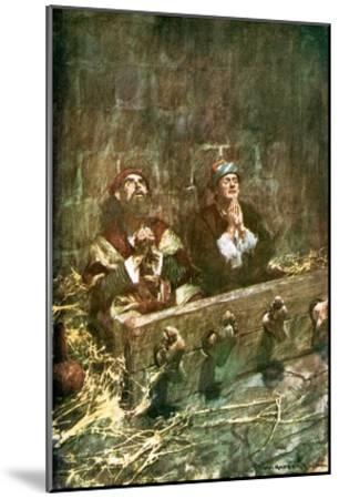 Paul and Silas in Prison-William Hatherell-Mounted Giclee Print