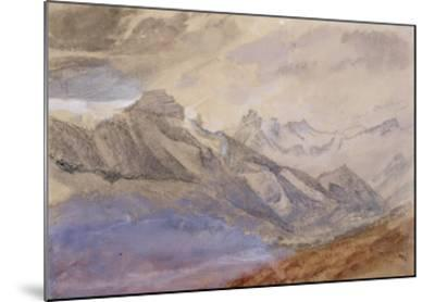 Mont Dauphiny, Near Chartreuse (W/C and Pencil on Paper)-John Ruskin-Mounted Giclee Print