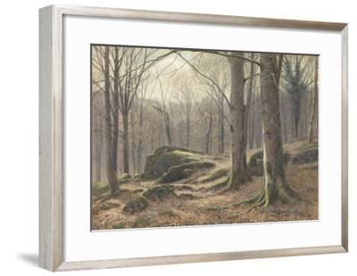 A Winter Morning, Hoar Frost Melting, 1885-1894 (W/C on Paper)-James Thomas Watts-Framed Giclee Print