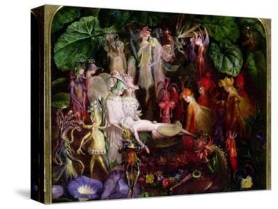 The Fairy's Funeral-John Anster Fitzgerald-Stretched Canvas Print