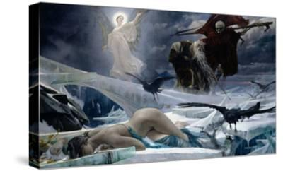 Ahasuerus at the End of the World-Adolph Hiremy-Hirschl-Stretched Canvas Print