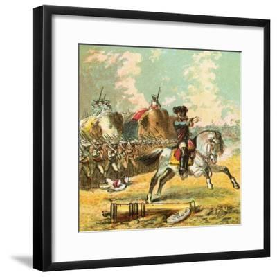 Clive's Victories in India-English-Framed Giclee Print