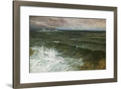 Lannacombe Bay, Start Point in the Distance (Oil on Board)-George Vicat Cole-Framed Giclee Print