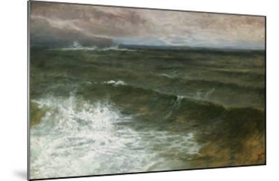 Lannacombe Bay, Start Point in the Distance (Oil on Board)-George Vicat Cole-Mounted Giclee Print
