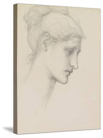 Study for Laus Veneria, C.1875 (Pencil on Paper)-Edward Burne-Jones-Stretched Canvas Print