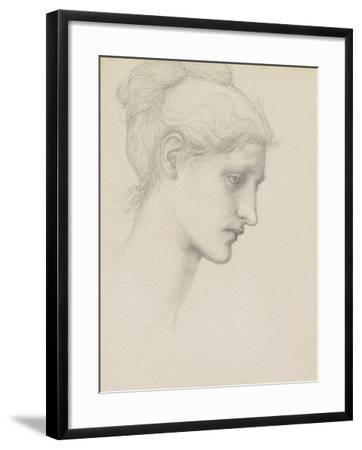 Study for Laus Veneria, C.1875 (Pencil on Paper)-Edward Burne-Jones-Framed Giclee Print