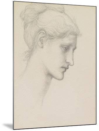 Study for Laus Veneria, C.1875 (Pencil on Paper)-Edward Burne-Jones-Mounted Giclee Print
