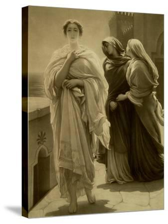 Helen of Troy (Litho)-Frederick Leighton-Stretched Canvas Print