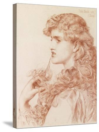 Proud Maisie, 1903 (Pencil and Red Chalk on Paper)-Anthony Frederick Augustus Sandys-Stretched Canvas Print