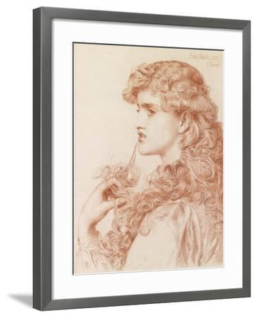 Proud Maisie, 1903 (Pencil and Red Chalk on Paper)-Anthony Frederick Augustus Sandys-Framed Giclee Print