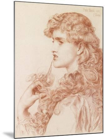 Proud Maisie, 1903 (Pencil and Red Chalk on Paper)-Anthony Frederick Augustus Sandys-Mounted Giclee Print