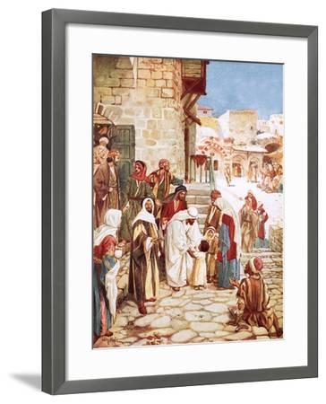 Jesus Blessing Little Children-William Brassey Hole-Framed Giclee Print