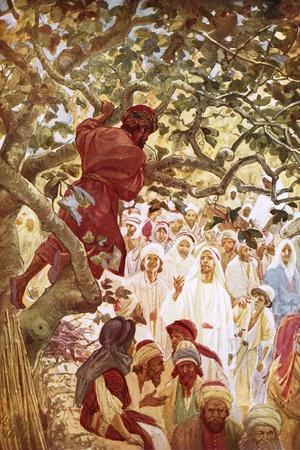 Jesus Summoning Zacchaeus the Publican to Entertain Him at His House-William Brassey Hole-Stretched Canvas Print
