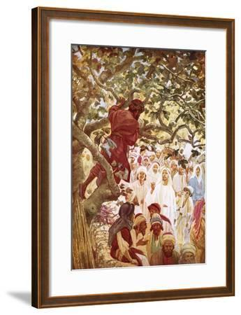Jesus Summoning Zacchaeus the Publican to Entertain Him at His House-William Brassey Hole-Framed Giclee Print