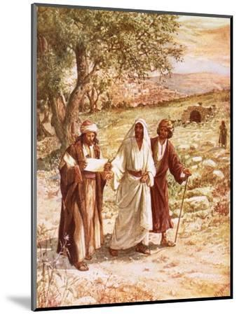 Jesus Appearing to Two Disciples on the Road to Emmaus-William Brassey Hole-Mounted Premium Giclee Print