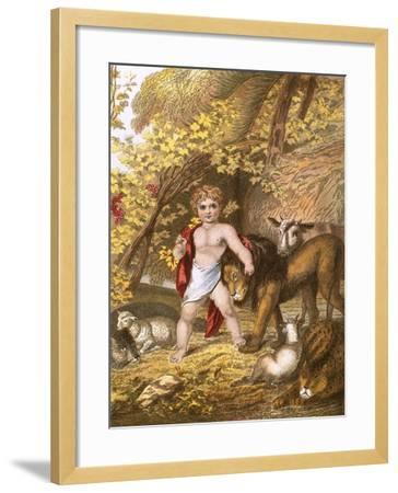 The Peaceable Kingdom-English-Framed Giclee Print