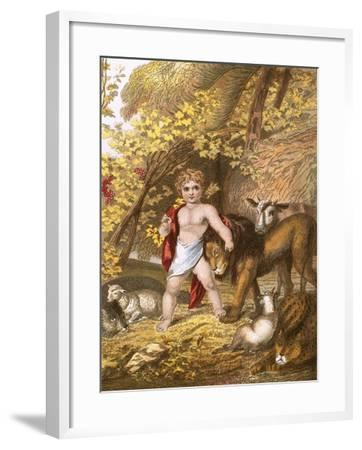 The Peaceable Kingdom-English-Framed Giclee Print