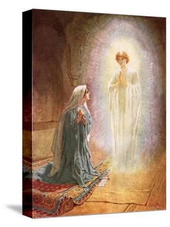 Annunciation-William Brassey Hole-Stretched Canvas Print