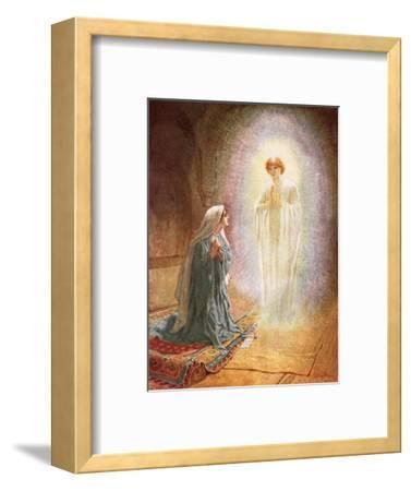 Annunciation-William Brassey Hole-Framed Premium Giclee Print