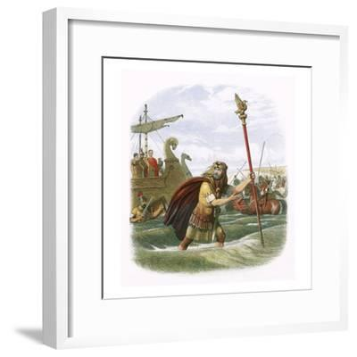 Julius Caesar's Invasion Attempt in 55 Bc-James E. Doyle-Framed Giclee Print