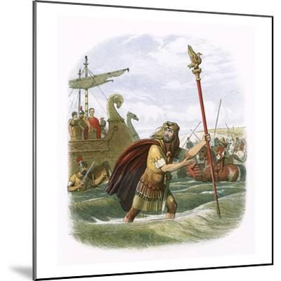Julius Caesar's Invasion Attempt in 55 Bc-James E. Doyle-Mounted Giclee Print