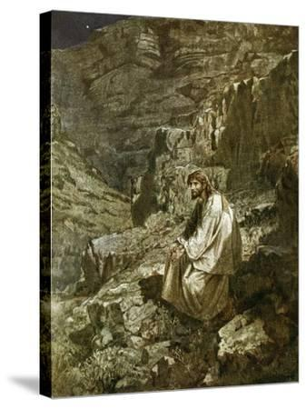 Forty Days in the Wilderness, Tempted by Satan-William Brassey Hole-Stretched Canvas Print