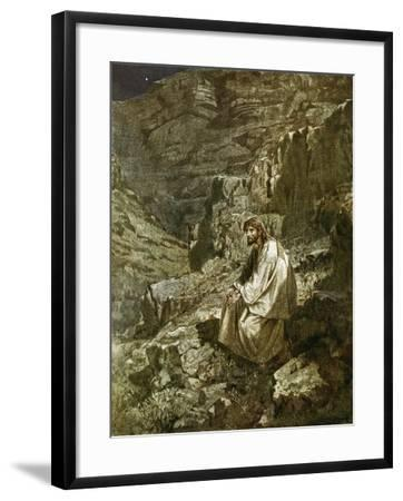 Forty Days in the Wilderness, Tempted by Satan-William Brassey Hole-Framed Giclee Print