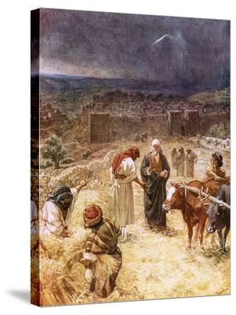King David Purchasing the Threshing Floor-William Brassey Hole-Stretched Canvas Print