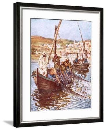 A Great Multitude of Fishes-William Brassey Hole-Framed Giclee Print