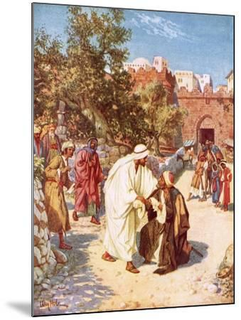 Jesus Healing a Leper-William Brassey Hole-Mounted Giclee Print