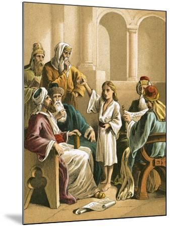 Jesus Disputing with the Doctors-English-Mounted Giclee Print