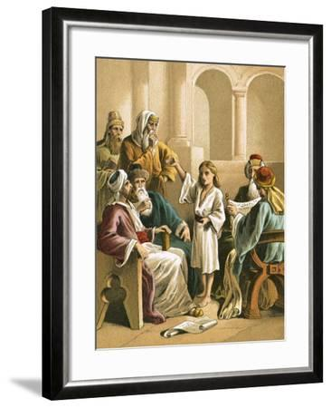 Jesus Disputing with the Doctors-English-Framed Giclee Print