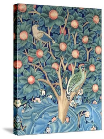 The Woodpecker Tapestry, Detail of the Woodpeckers, 1885 (Tapestry)-William Morris-Stretched Canvas Print