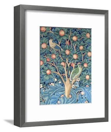 The Woodpecker Tapestry, Detail of the Woodpeckers, 1885 (Tapestry)-William Morris-Framed Premium Giclee Print